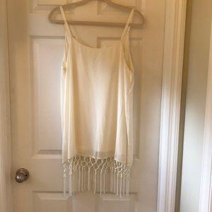 Never worn tag still on white dress